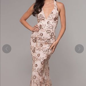 Rose Gold Prom Dress